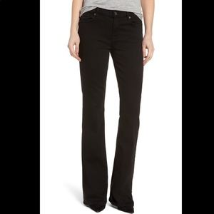 Seven for all mankind 27 x 32 black bootcut jeans